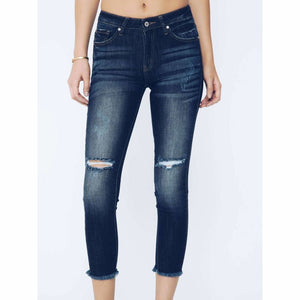 Final Sale - Mid Rise Dark Denim