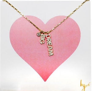 DREAM BIG PAVE VERTICAL CHARM NECKLACE