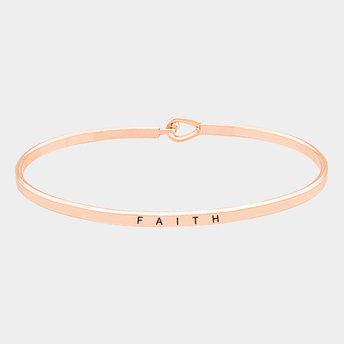 Rose Gold Faith Bracelet