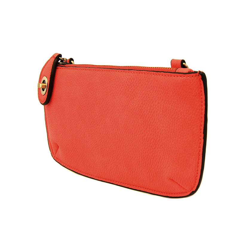 Flame Red Mini Crossbody Wristlet Clutch