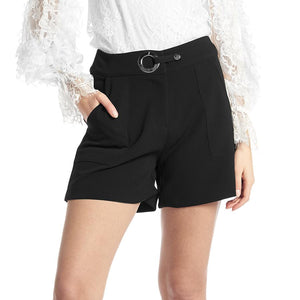 Gracia Black Dress Shorts