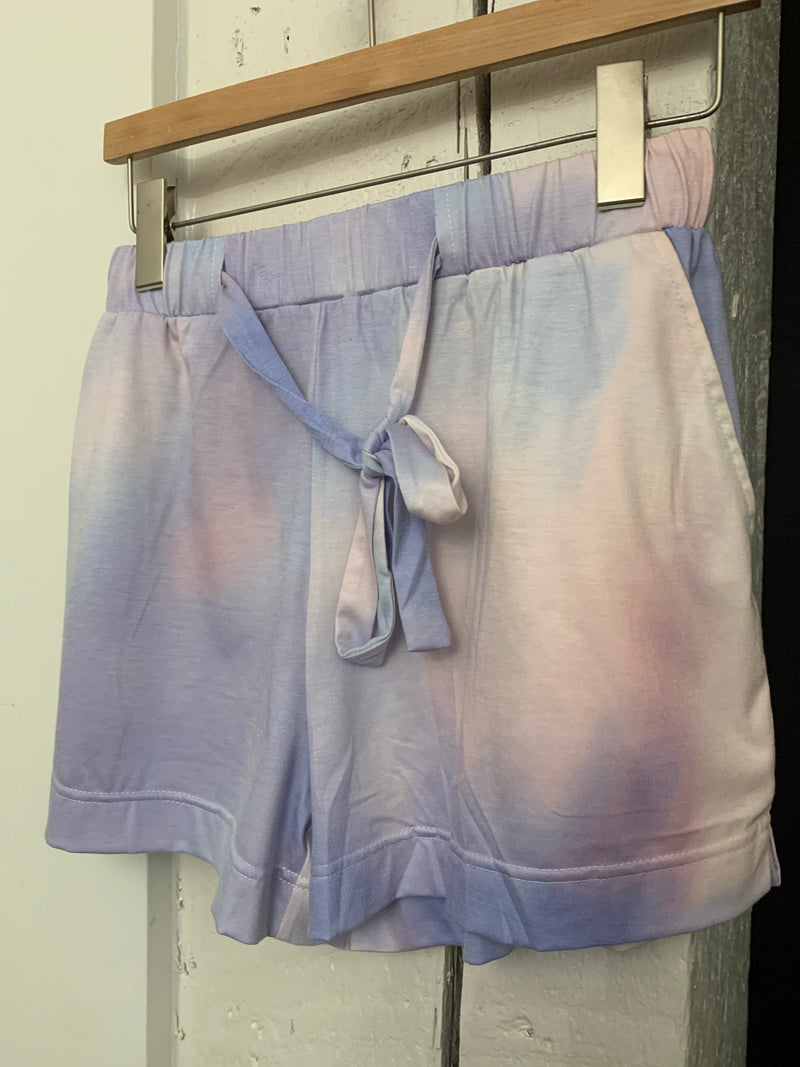 Final sale - Pink and purple tie-dye shorts