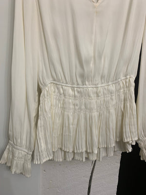 Final sale - Ivory peplum blouse