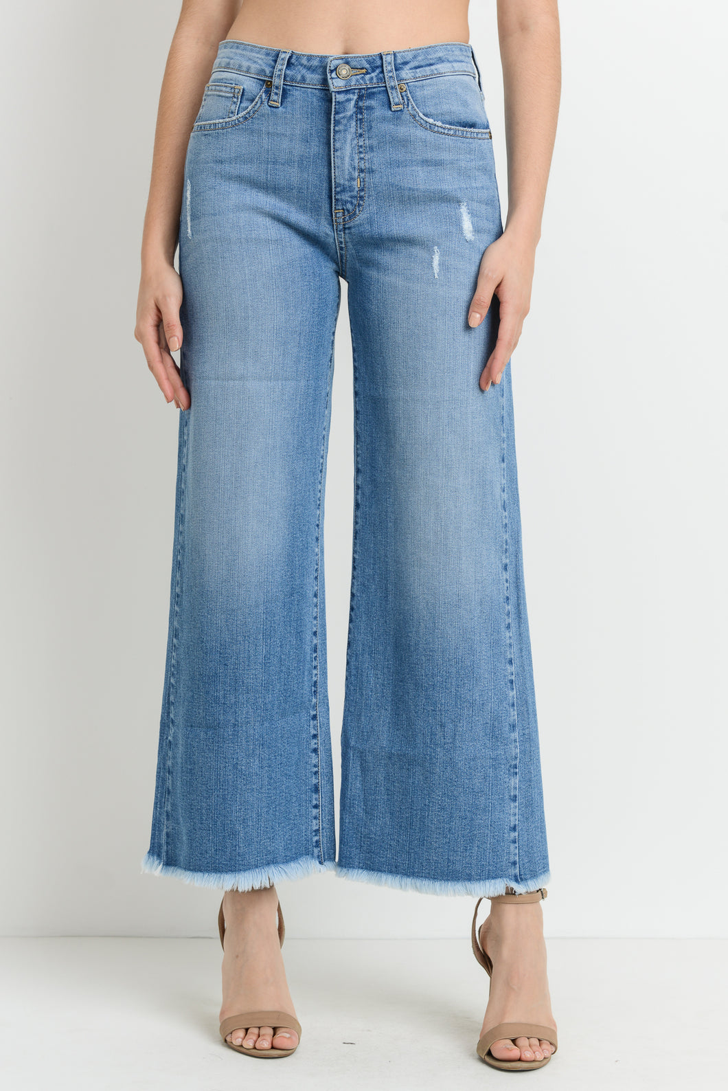 Frayed Wide Leg Jeans - Nicoletaylorboutique