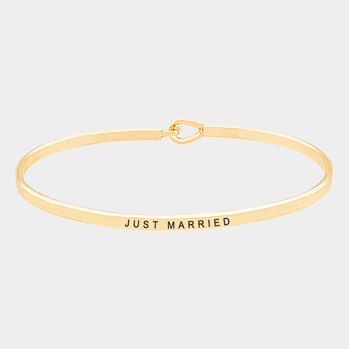 Just Married Brass Bracelet