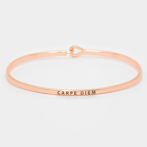 Carpe Diem Rose Gold Bracelet