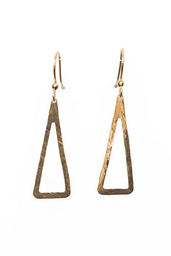 Open Hammered Triangle Earrings