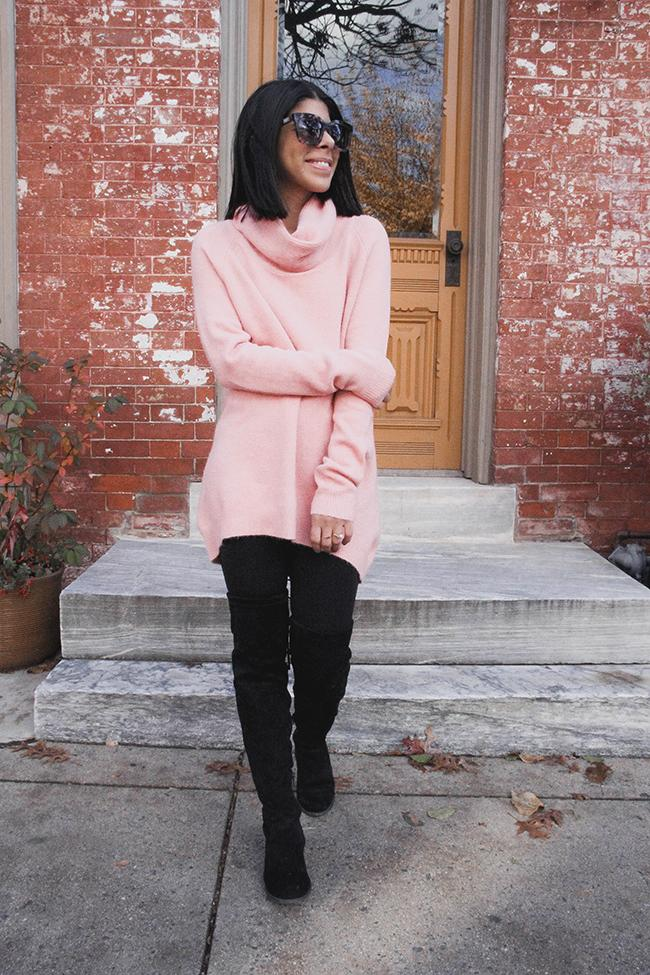 Pretty In Pink Turtle Neck Sweater