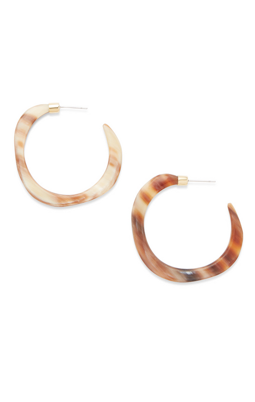 PENDO ORGANIC HORN HOOP EARRINGS