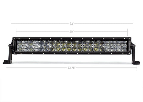 "21.5"" Dual Row 5D Optic OSRAM LED Bar - Cali Raised LED"