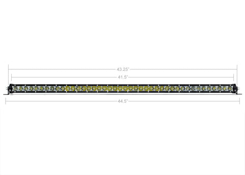 "42"" Slim Single Row LED Bar - Cali Raised LED"