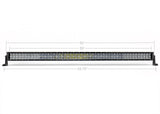 "52"" CURVED 5D Dual Row 5D Optic OSRAM LED Bar - Cali Raised LED"