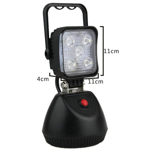 15W Rechargeable Magnetic Base Work Light - Cali Raised LED