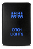 Small Style Toyota OEM Ditch Light Switch - Cali Raised LED