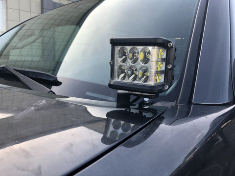 2016-2018 Toyota Tacoma Low Profile Ditch Light Brackets - Cali Raised LED