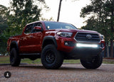 "2016+ Toyota Tacoma 32"" Light Bar Lower Bumper Brackets - Cali Raised LED"