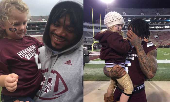A story of the special bond formed between a baby fan and her favorite college player