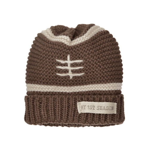 Mud Pie My 1st Season Football Brown Knit Cap
