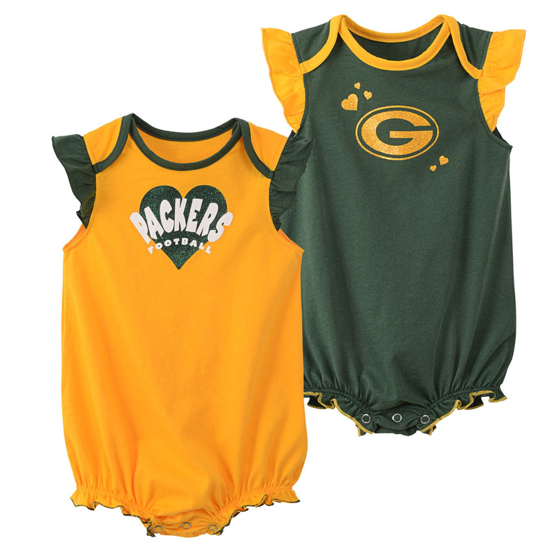 Packers Baby Girl Duo Bodysuit Set