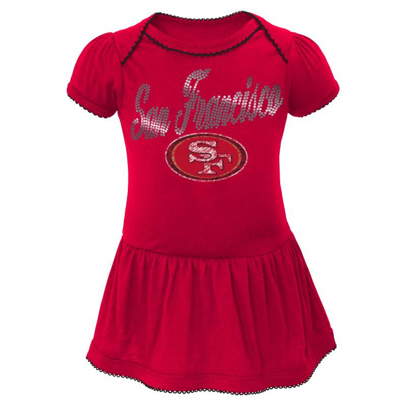 49ers Baby Dazzle Bodysuit Dress