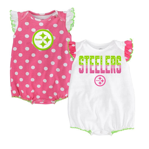 Steelers Baby Girl Polka Dot Creeper Set