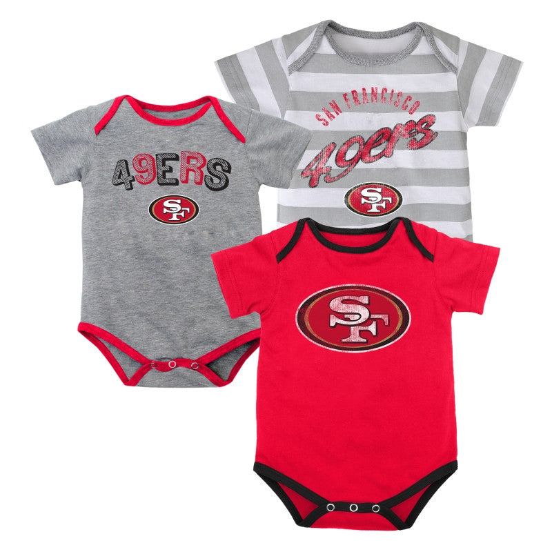 Baby 49ers Outfits (3-Pack)