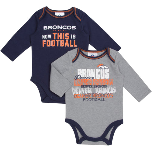 Broncos Football Onesies 2-Pack