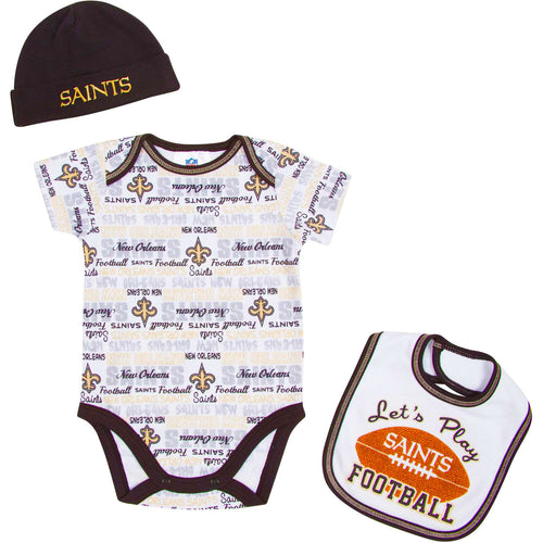 Let's Play Saints Football Newborn Outfit