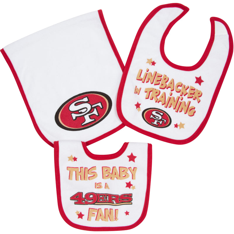 49ers Bibs and Burp Cloth