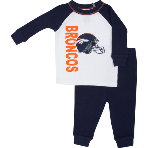 Broncos 2 Pc Thermal PJs