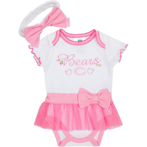Bears Newborn Skirted Onesie with Headband
