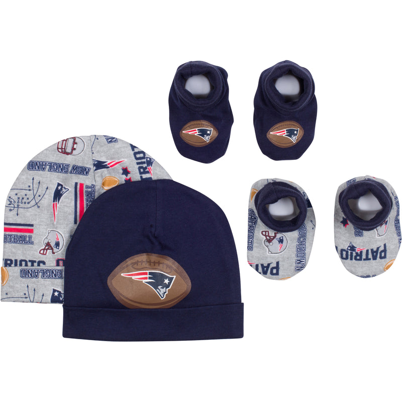 Baby Patriots Fan Caps & Booties Set
