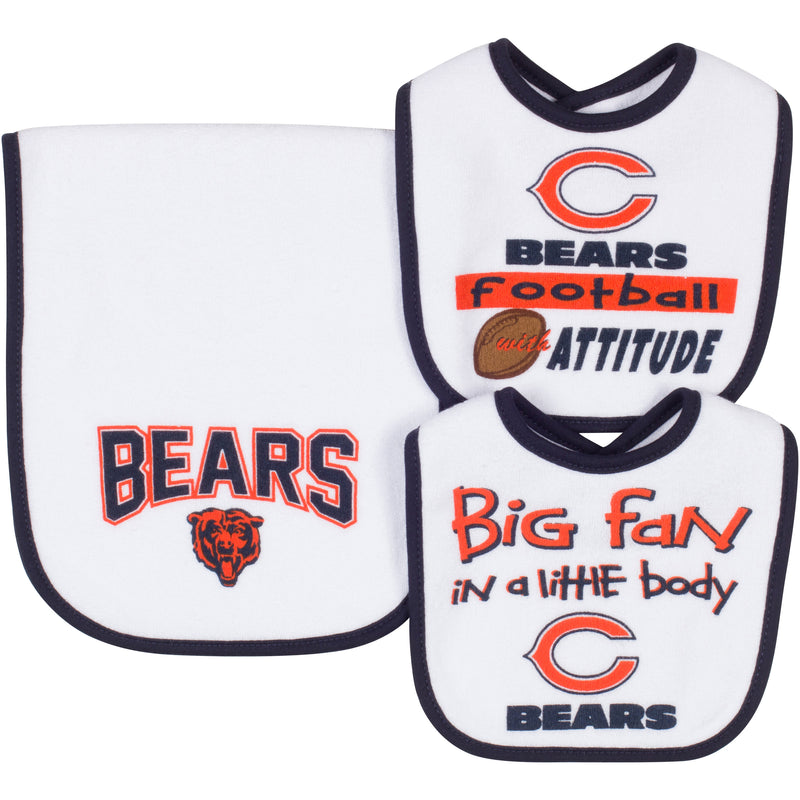 "Bears ""Big Fan In a Little Body"" Bib and Burp Set"