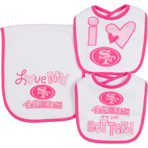 Love My 49ers Bibs and Burp Cloth
