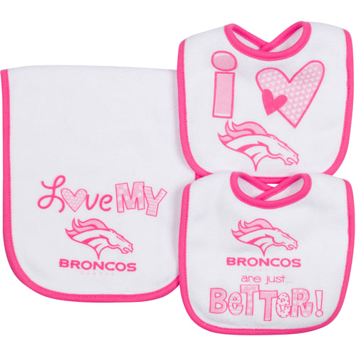 Love My Bronocs Bibs and Burp Cloth