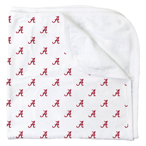 Alabama All Over Print Logo Blanket