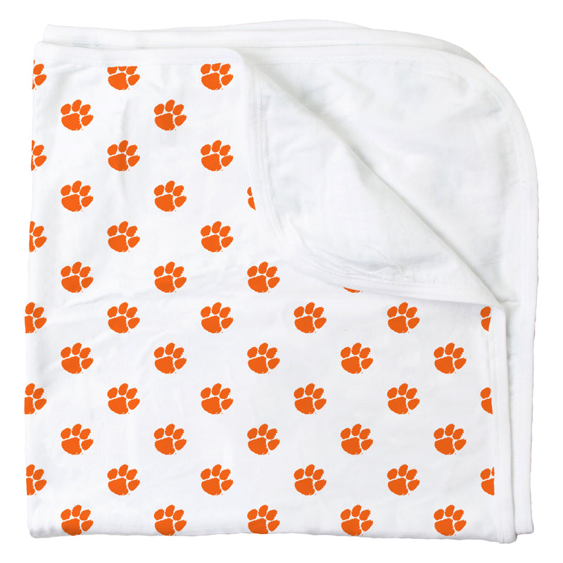 Clemson All Over Print Logo Blanket
