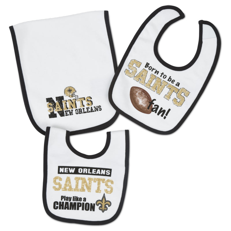 Saints Baby Bibs and Burp Cloth