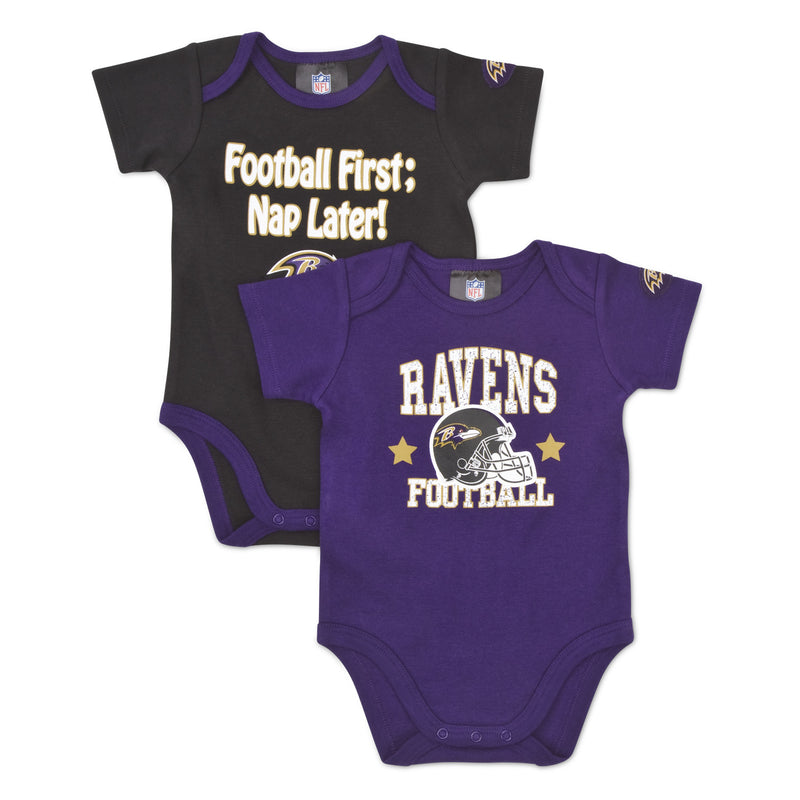 "Ravens Baby ""Nap Later!"" Bodysuit 2-Pack"
