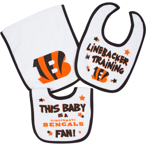 Bengals Bibs and Burp Cloth