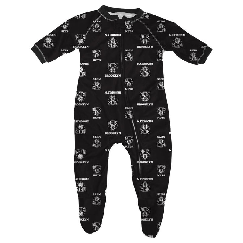 Nets Baby Zip Up Pajamas