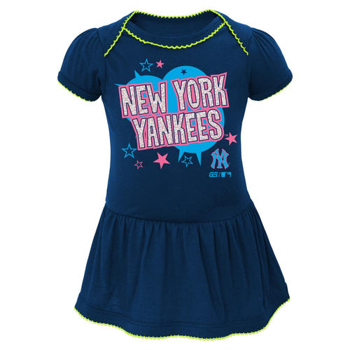 Yankees Stars Skirted Baby Dress