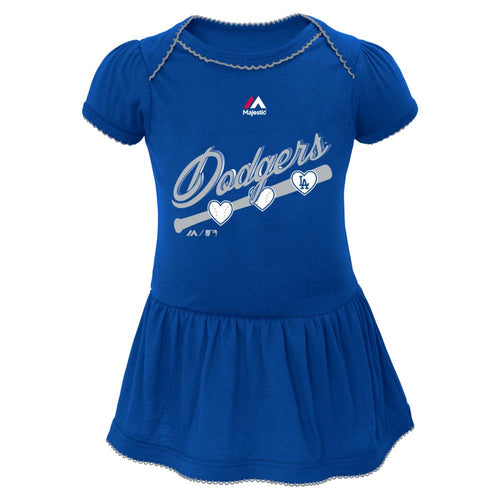 Dodgers Triple Play Baby Dress