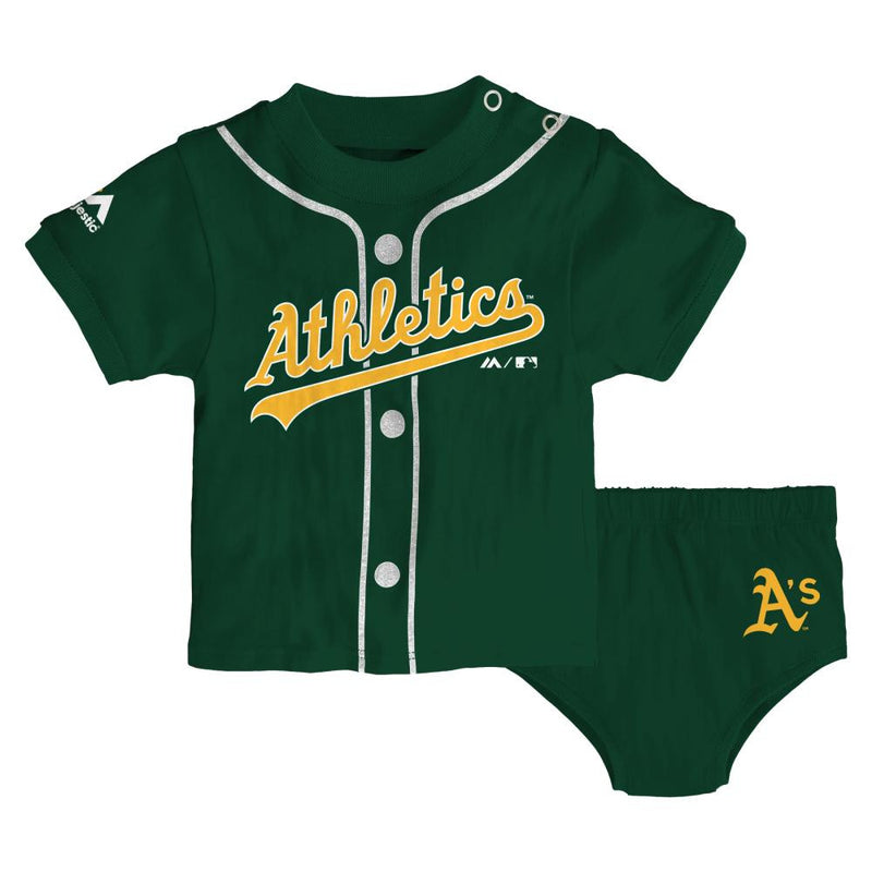 Athletics Little Sports Tee and Baby Diaper Cover