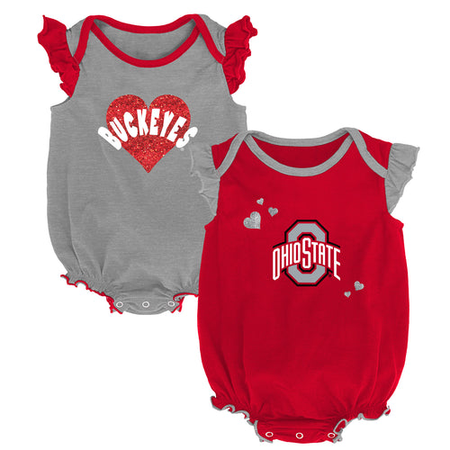 Ohio State Baby Girl Duo Bodysuit Set