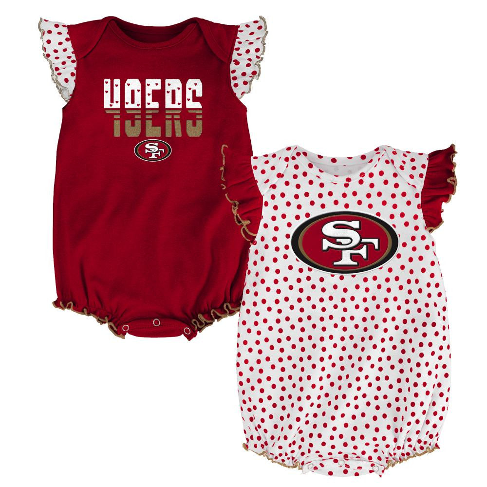 49ers Baby Girl Dotty Duo – babyfans