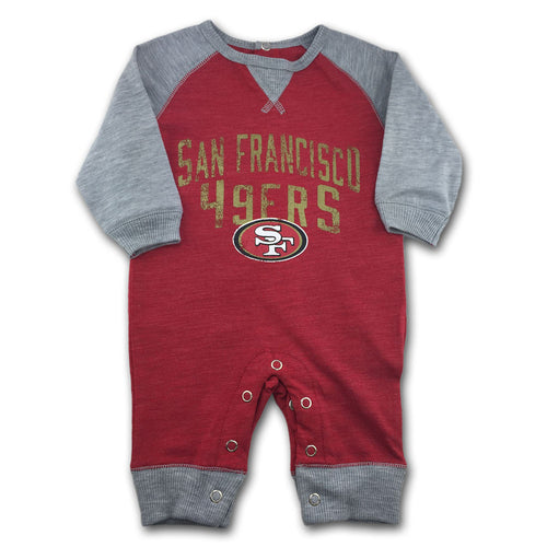 49ers Newborn Legacy Coverall