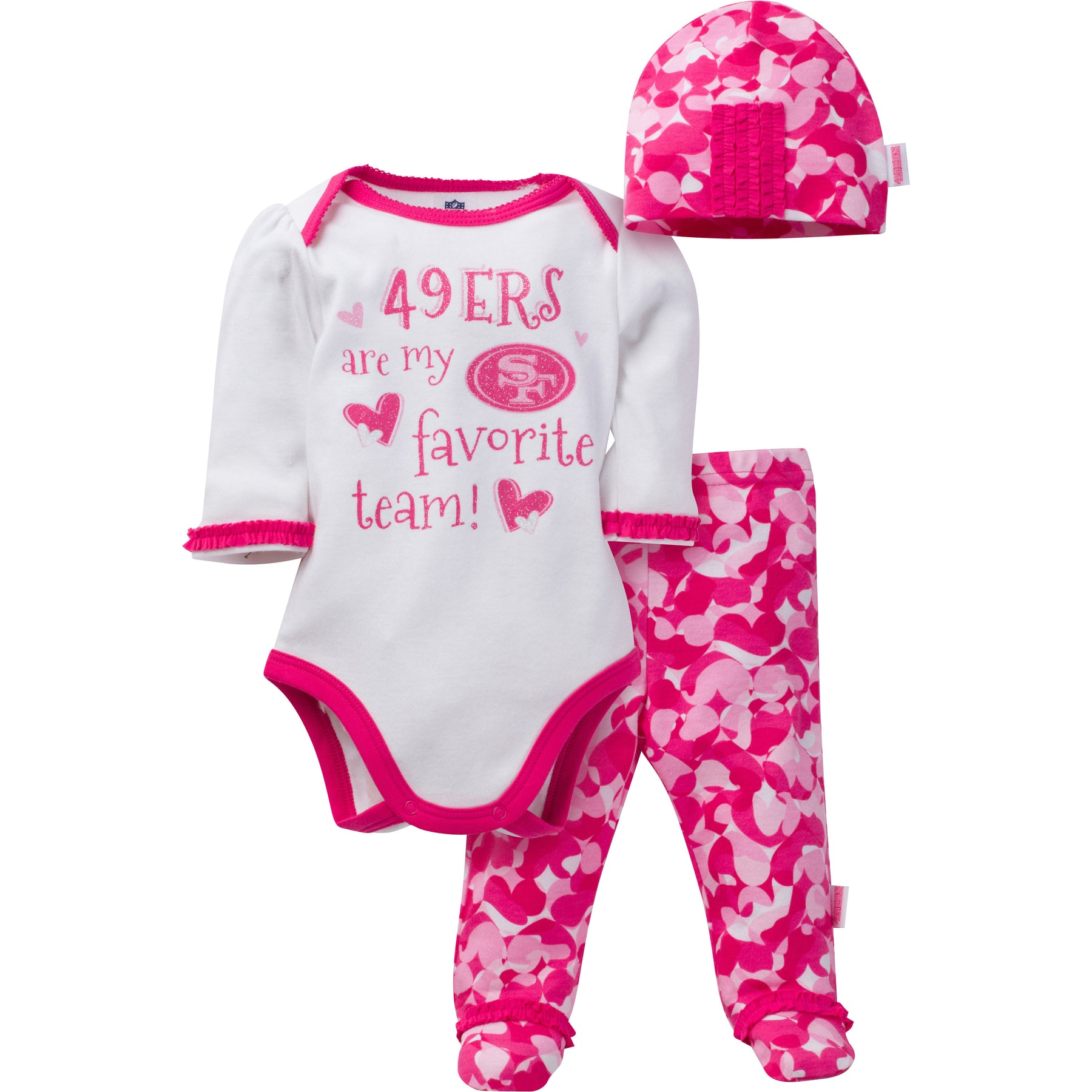 49ers Baby Girl 3 Piece Outfit – babyfans