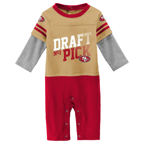 49ers Boy Long Sleeve Coverall