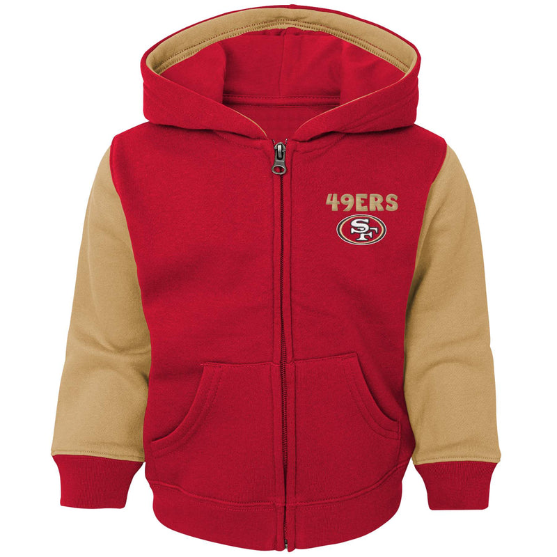 49ers Kid Zip Up Hooded Sweatshirt